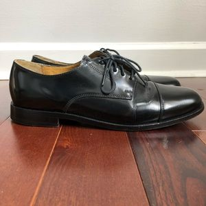 COLE HAAN Caldwell Oxford Black Leather Dress Shoe